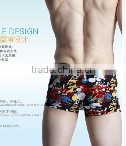 Men's underwear comfortable, breathable waist boxer printing fork sexy underwear corners tide of young men's underwear