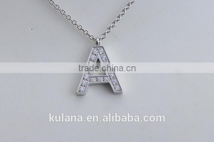 PN91420 Stainless Steel Jewelry Initial Letter Alphabet New Cute Chain Necklace