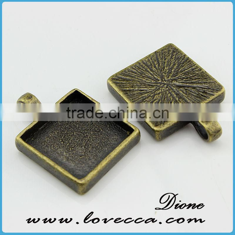 cheap factory price jewelry settings sqaure cabochon setting
