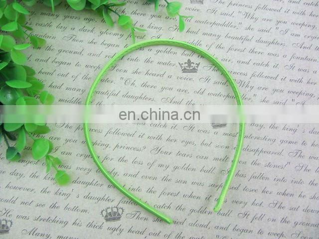 Plain Satin Covered Headbands 7mm Solid Hairbands For Toddlers Children