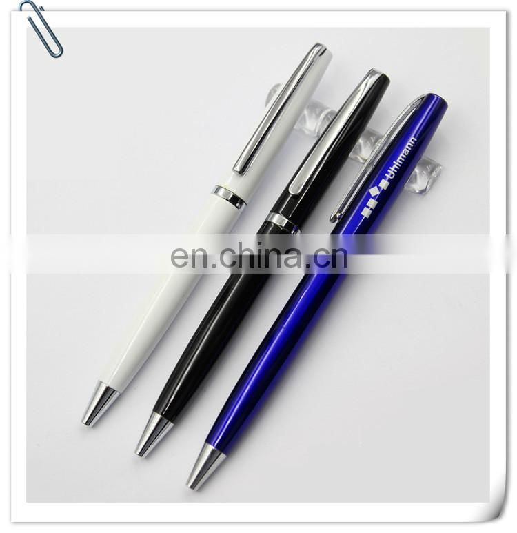 high quality twist prmotion gift metal roller pen with customized logo