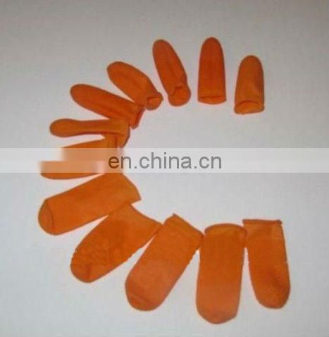 Rubber Finger protectors for hair extensions