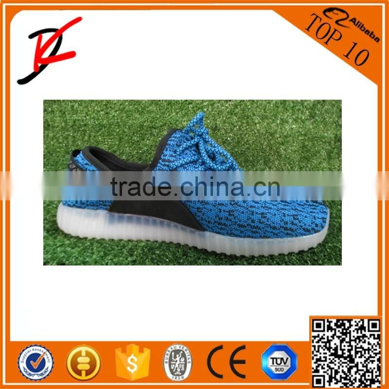 LED Light Up USB Charger Lace Up Luminous Sneaker Yeezy Walk Shoes Kids Casual Sport Shoes