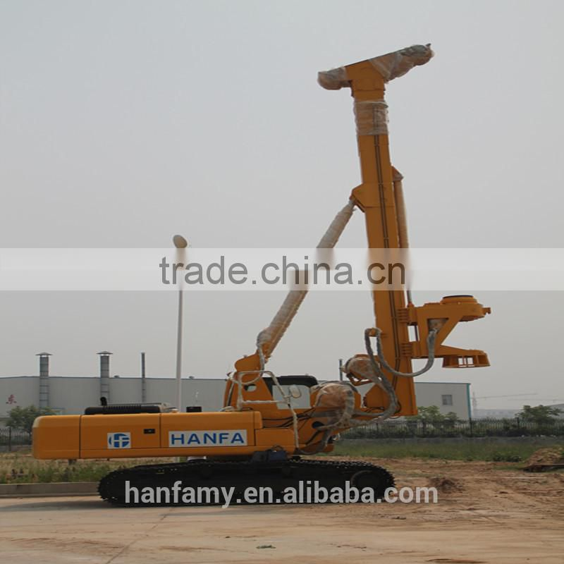 HF128A high efficiency hydraulic rotary drilling rig max piling depth 56m piling diameter 600-1600mm