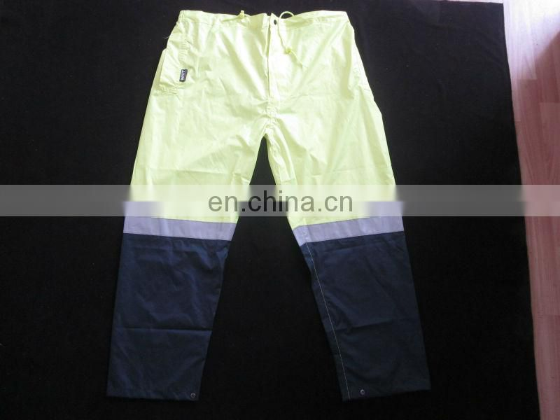 Reflective safety work pants reflective with water-proof, oil proof
