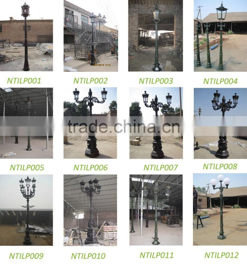 Outdoor antique street decorative cast iron lamp post with 5 lights NTILP-270A