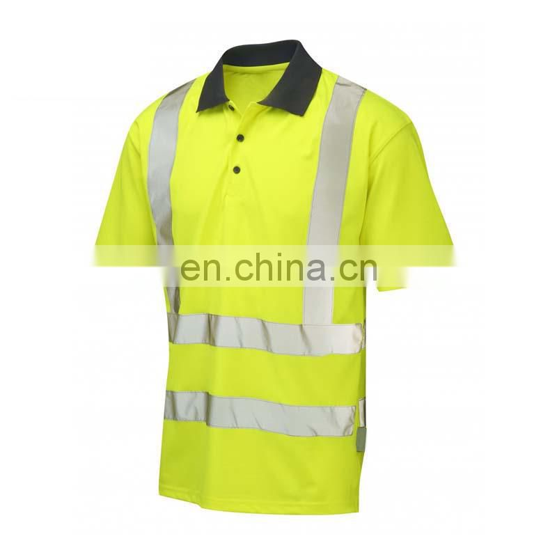 Reflective Safety polo t-shirt