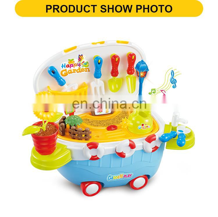Happy garden feature educational toys pretend play set with light & sound 32pcs