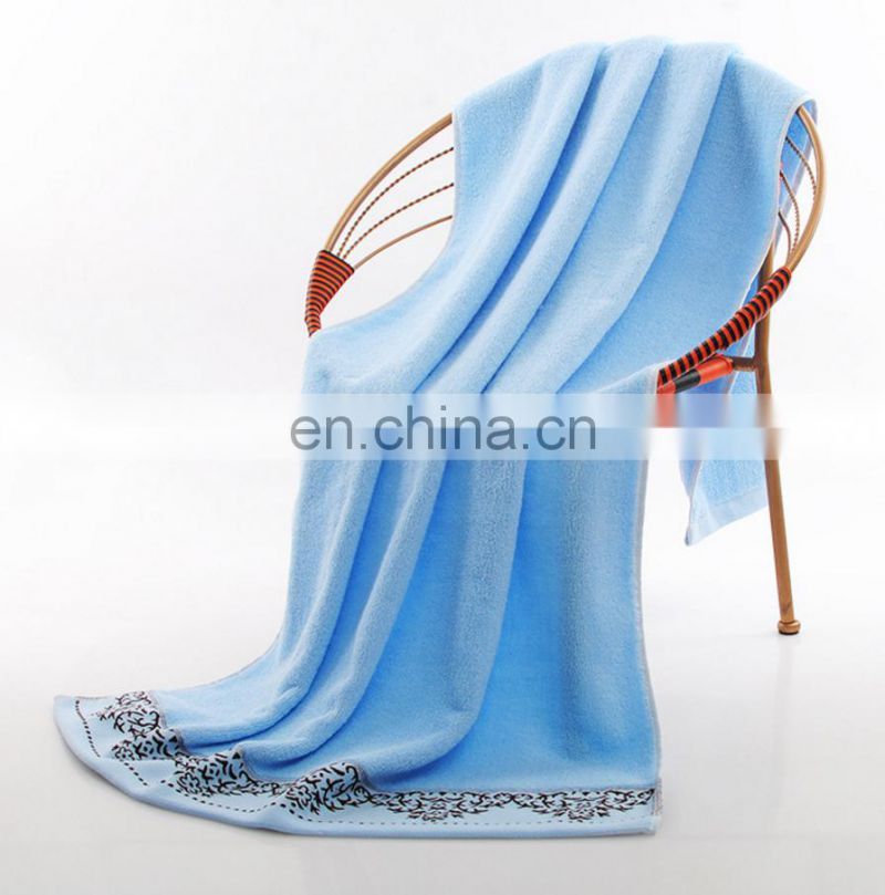 china wholesale towels market hand embroidery designs large size bath towel can custom