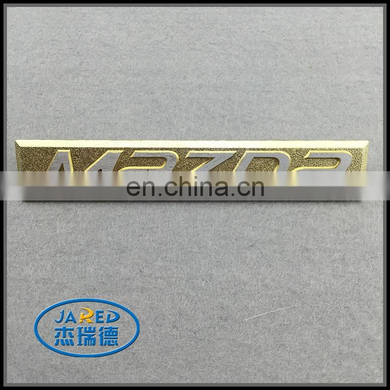 Wholesale Gold Color Metal Crafts Custom Embossed Name Polished and Plating Aluminum Label