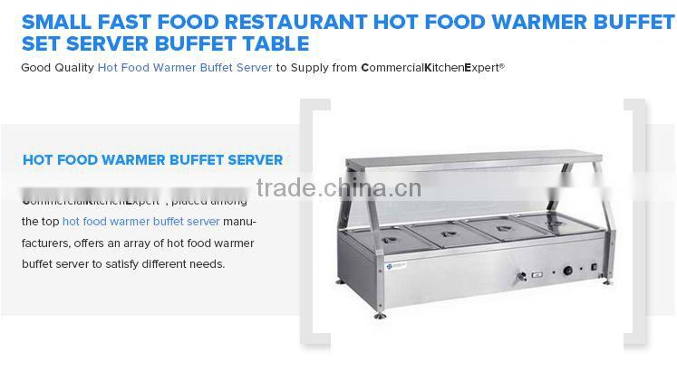 Small Fast Food Restaurant Hot Food Warmer Buffet Set Server Buffet - Restaurant warmer table