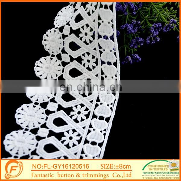 Trimming laces And White lace fabric wholesale tassels