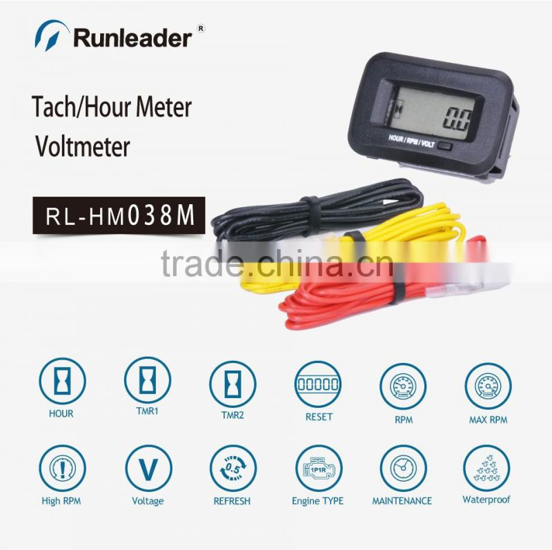 Agricutlural machinery tach meter voltage meter RPM meter tractor