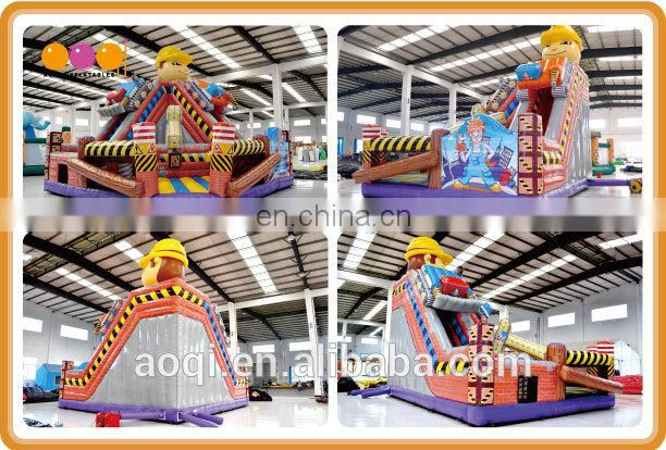 2015 new design best seller super quality little builder inflatable combo