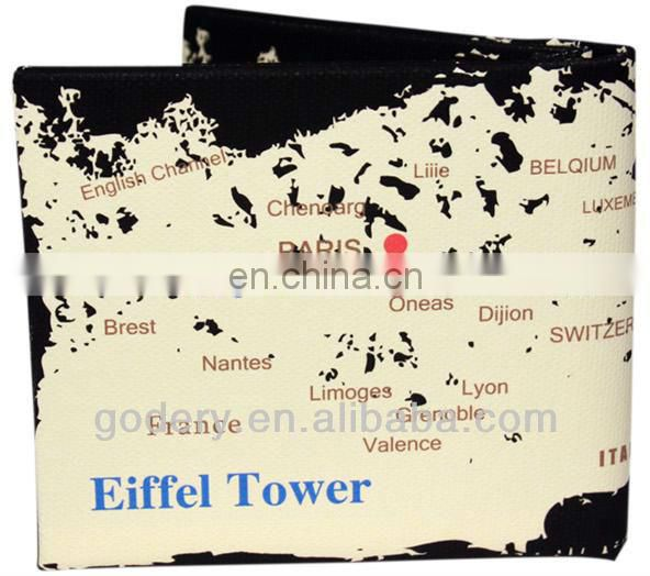 Popular Creative Eiffel Tower canvas wallet