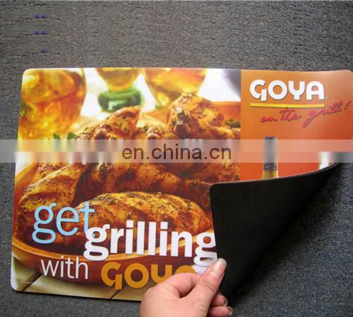 anti slip custom printed pad placemat