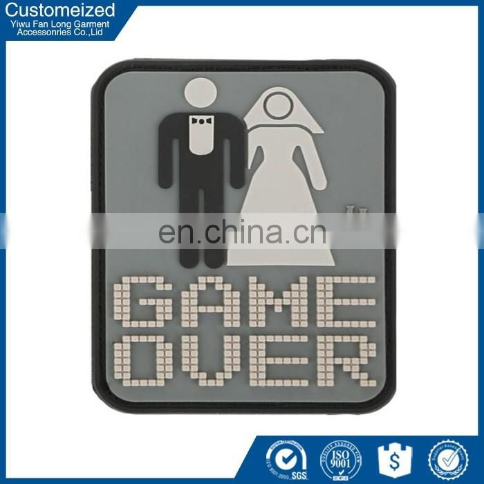 Custom made 3d soft pvc rubber label