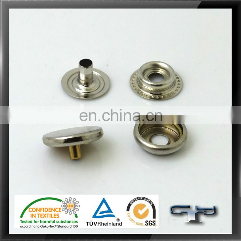snap fastener designer coat buttons cheap metal snap button ring suppliers in China