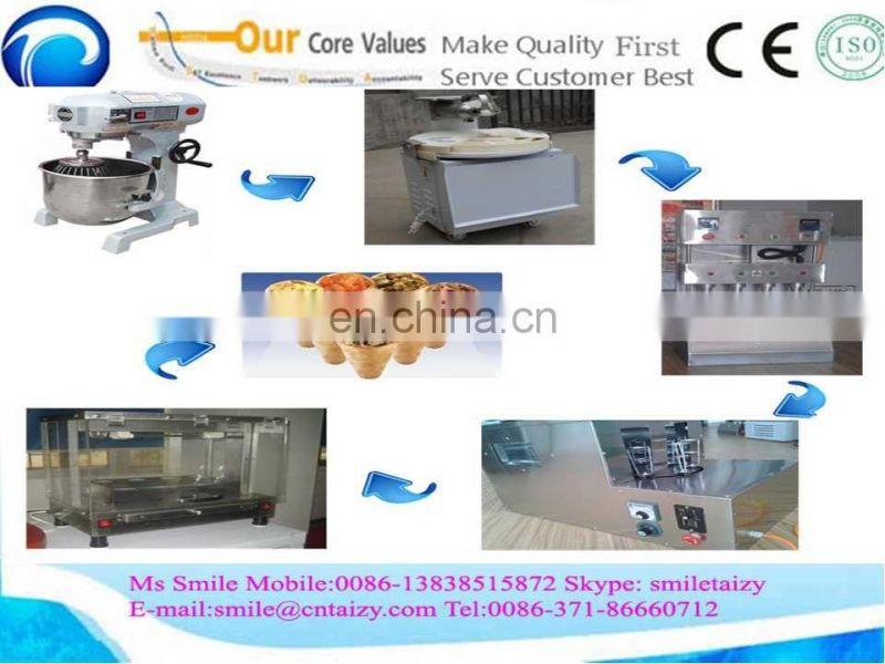 with ISO certificate China manufacturer ice cream pizza cone making machine
