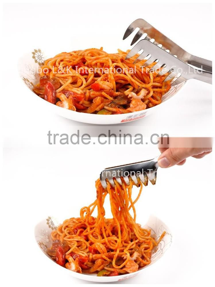 High quality sainless steel pasta clip spaghetti noodles food tong