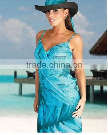 ladies sexy mature beach shift pareo dress