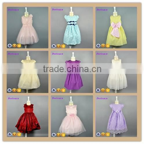 Factory Children Dress Kids Clothes With Frock Design Pictures Model Spring Wear Mini Dance Short Cutting Baby One Piece Girl