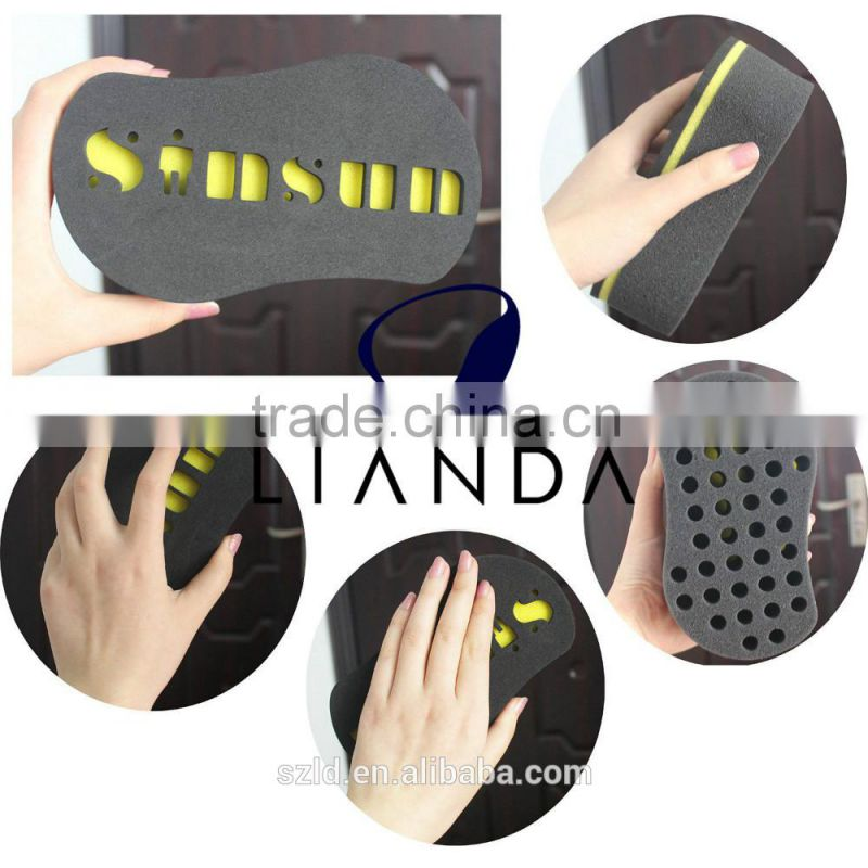 hair curl sponge with holes,black men hair curl sponge,black color hair twist sponge