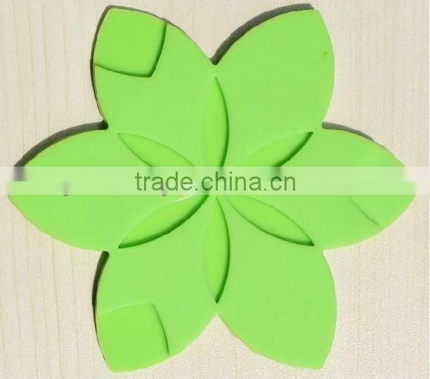 OEM/ODM colorful logo/patterns printed silicone cup mat