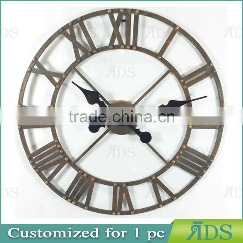 Metal Oval Wall Clock