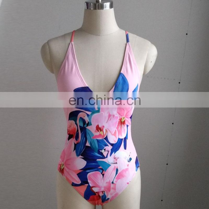 New Arrival Sexy Women's Swimming Suit Beach Printing Bikini Set Swimwear Women Sexy Swimsuit