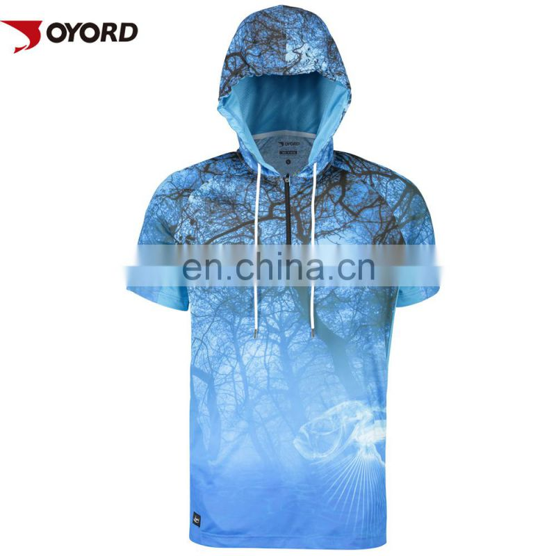 UV protection Men sublimated fishing shirts