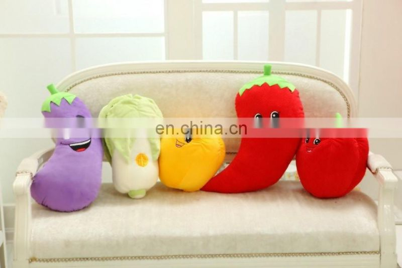 Creative custom long pepper price wholesale plush stuffed vegetable pillow