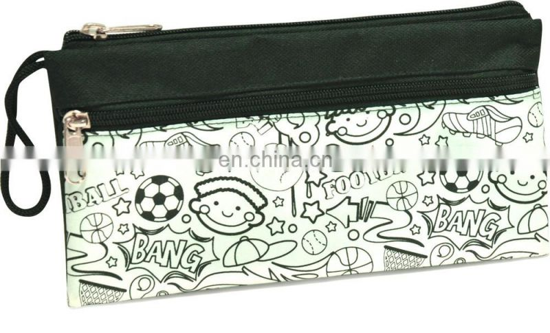 DIY Drawing Hand carry pen bag for kids with clour markers