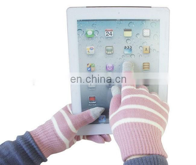 High quality Striped Touchscreen Gloves Winter Gloves for man