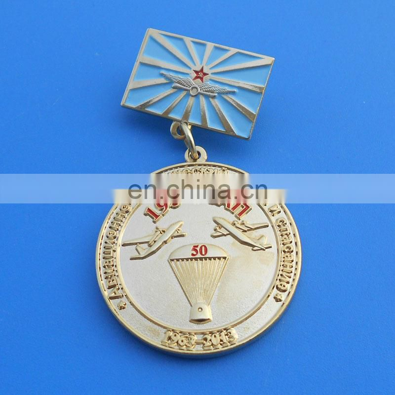Russia feature customized memorial souvenir gifts honor gold metal plate 3D metal medal