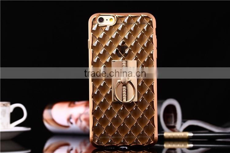 Lattice pattern electroplating tpu case for iphone 6,raised phone case for iphone6