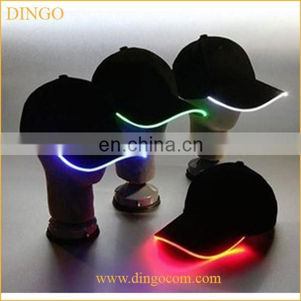 Hot Sale Brushed Cotton Baseball Cap With Built-in LED Light