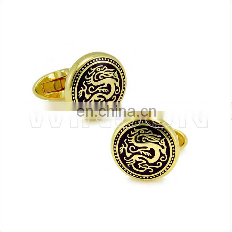 Chinese dragon cuff links