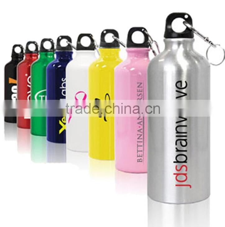 Simple design pure color aluminum water cup for promotion
