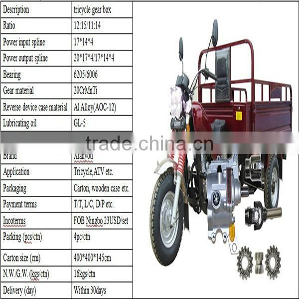 110cc Manual Device of Reversing Gear for trike and atv
