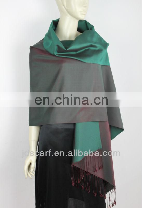 100% double color silk SCARVES taiwan