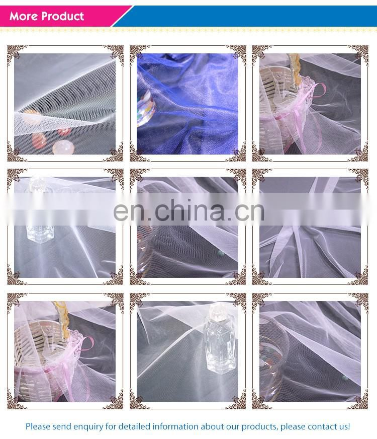 cheap tulle fabric for wedding decorate