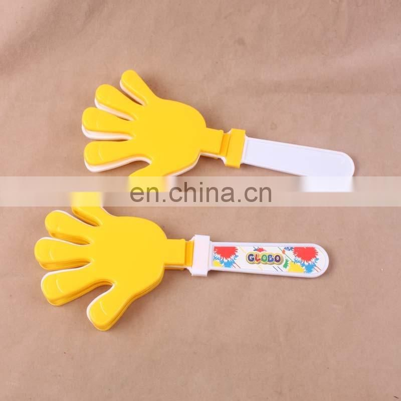 Customized Sport fans cheering toy plastic PP noise maker hand clapper