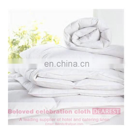 manufactory new style hotel white plain duck feather goose down quilt duvet