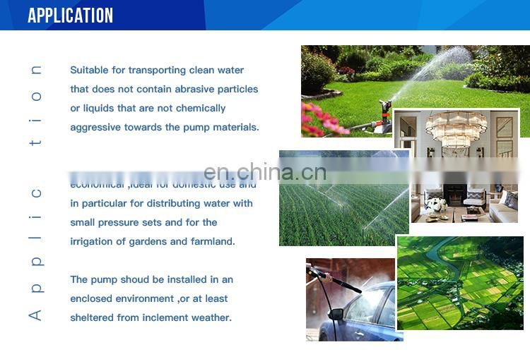 China best price high pressure electric motor centrifugal water pump for irrigation