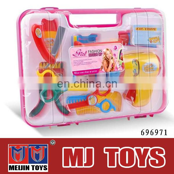Girl hair plastic cheap toy tool for kids DIY safe plastic toy tool set