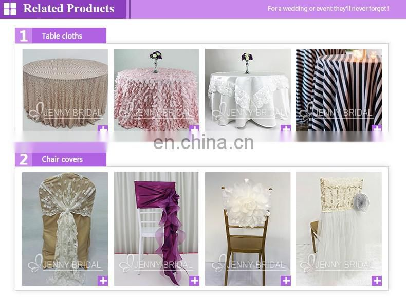 TS017 White ruffled table skirt gathered table skirts different designs of table skirting