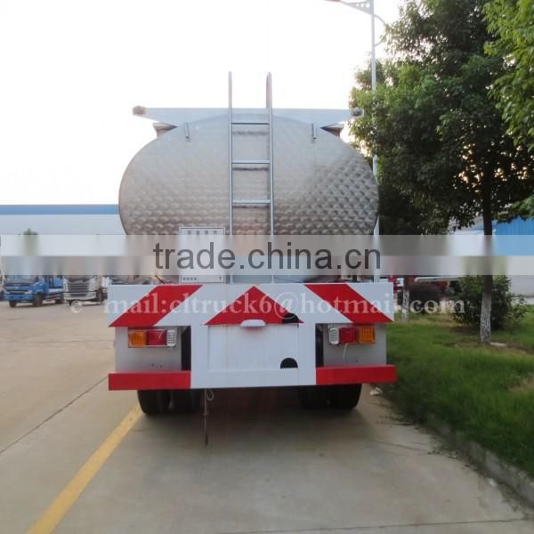 CLW 3 Axles Stainless Steel Oil Semi Trailer 42000L