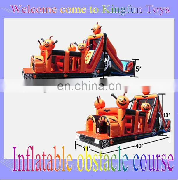 Top quality commercial inflatable obstacle course 2013