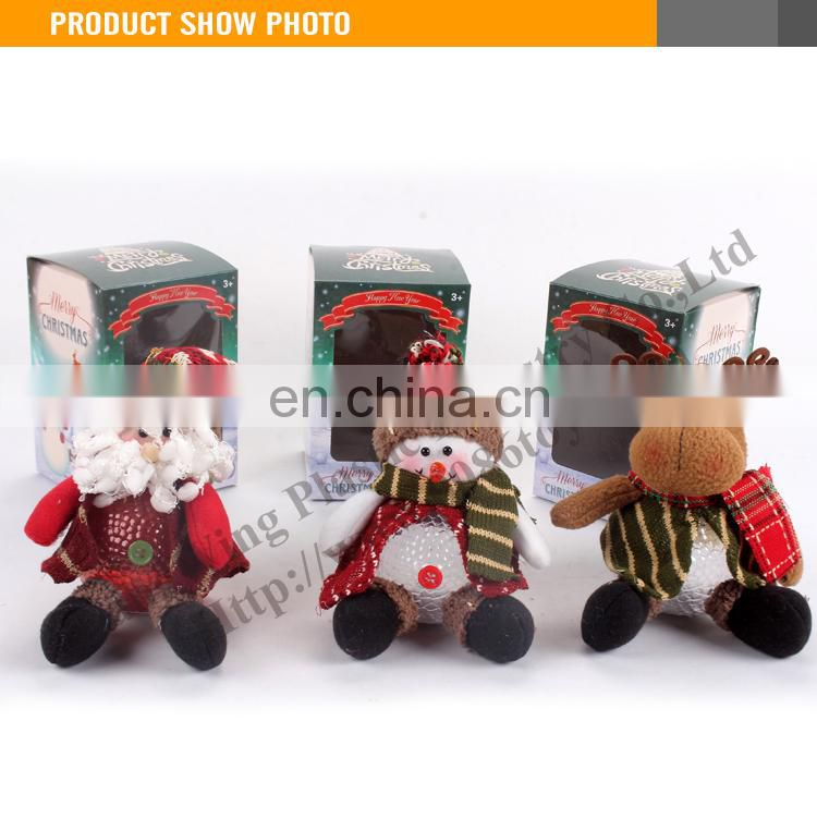 High Quality BO 8 Inch Sitting Singing Santa/Snowman (Battery Included)